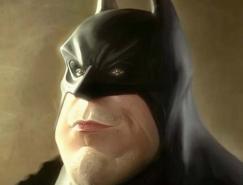 动漫英雄人物蝙蝠侠插画欣赏