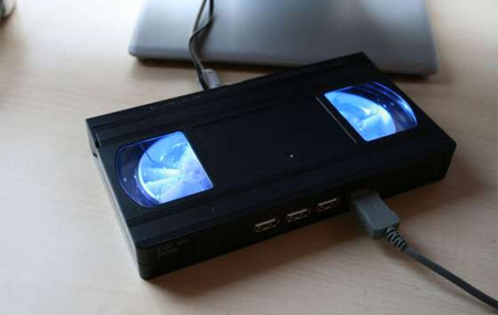 Glowing VHS Tape USB Hub