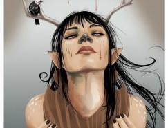 Milk另类的女孩插画欣赏