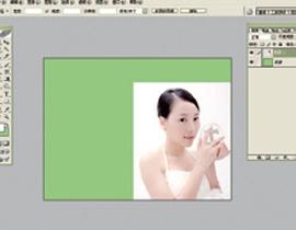 Photoshop给美女加上彩妆及头饰