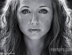 Photoshop给黑白人像去斑及上色