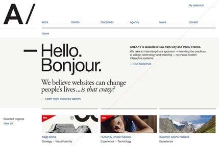 18个超简洁的网页界面设计