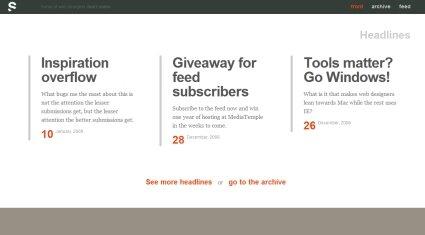 35个漂亮的极简网站欣赏