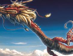 中国龙插画作品欣赏