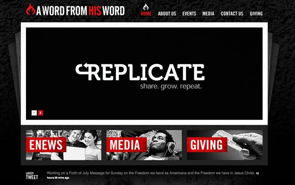 34个黑色的网站欣赏