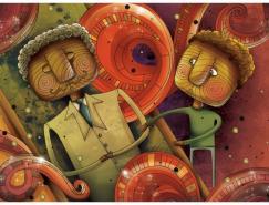 AnnaAnjos浓郁个人风格的插画作品