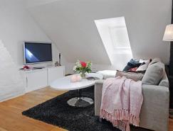 """""""黑+白""""演绎现代简约的4米层高顶楼公寓"""