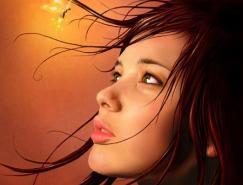 20张美丽的女性肖像插画