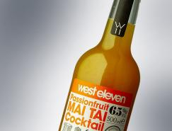 WestEleven鸡尾酒瓶贴设计