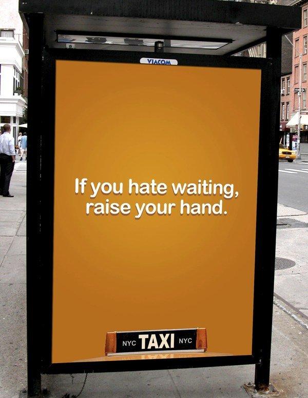 nyc TAXI(纽约出租车)户外站牌广告