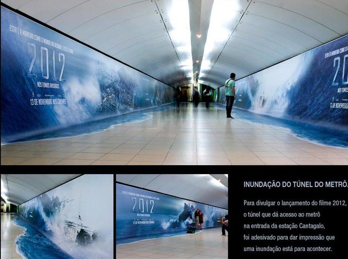 国际资讯_电影《2012》地铁站创意广告 - 设计之家