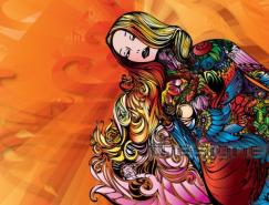 Fonseca惊人的人体彩绘插画