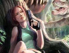古墓丽影游戏女主角LaraCroft插画欣赏