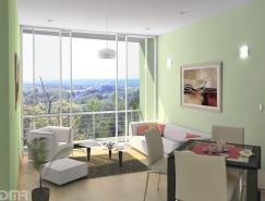 绿色主题起居室设计