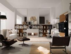 书架作为焦点:漂亮的室内装