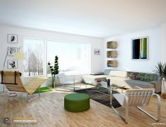 10张白色的起居室设计
