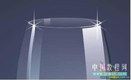 coreldraw x4绘制逼真的质感玻璃杯