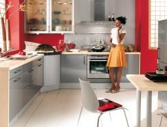 国外红色系厨房设计欣赏
