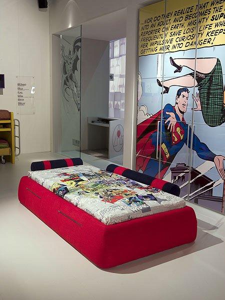 超人和蝙蝠侠装点儿童房