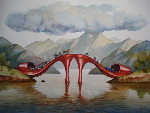 VladimirKush超现实绘画作品