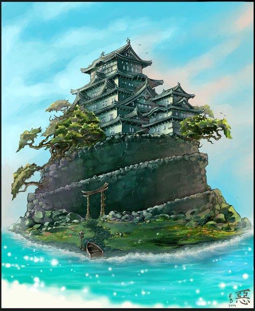 40张幻想世界城堡插画
