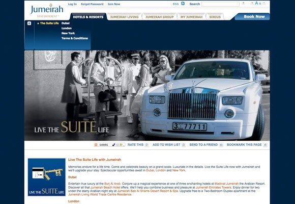 50个漂亮的酒店网站设计欣赏(2)