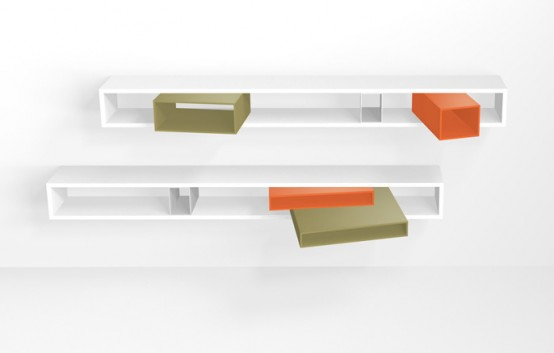 意大利Targa现代个性实木书架欣赏