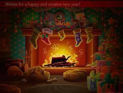 圣诞节题材插画欣赏