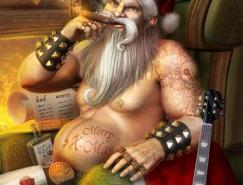 8张圣诞老人插图欣赏