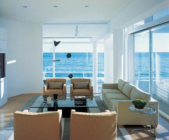 纯白现代海滨别墅设计