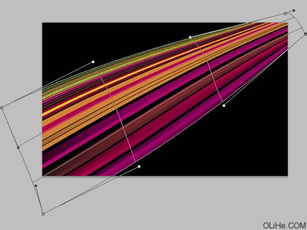 16、我们会得到如下效果:-Photoshop制作漂亮的彩色光束