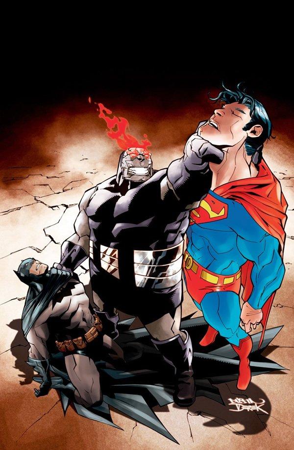 经典动漫人物插画:蝙蝠侠和超人