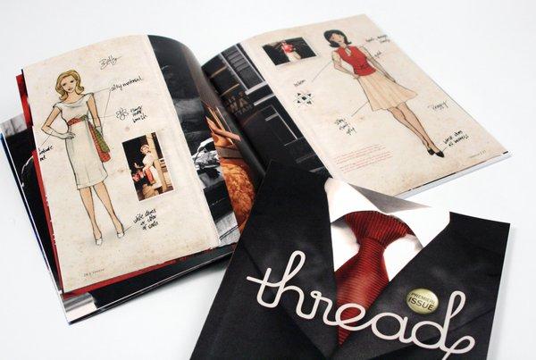 时尚主题杂志版面设计