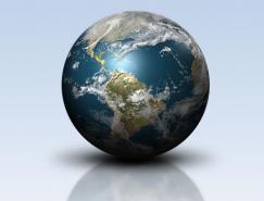 Photoshop中制作一个闪耀的地球