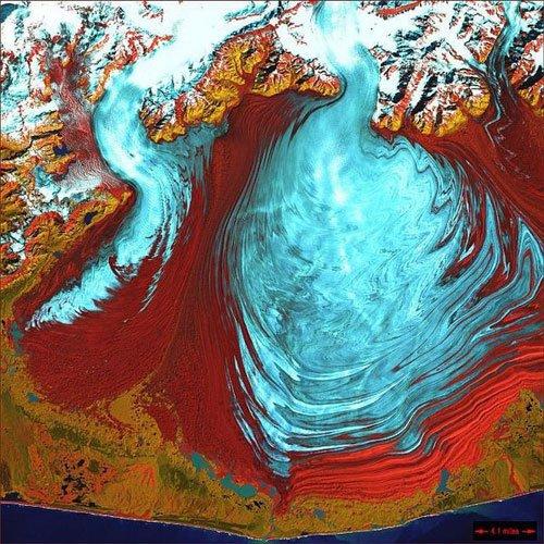 卫星海水纹理素材