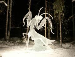 一组漂亮的冰雕艺术