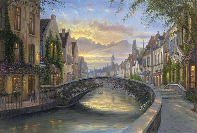 浪漫写意与现实的完美融合:RobertFinale绘画作品