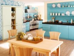 静谧之美:国外蓝色系厨房