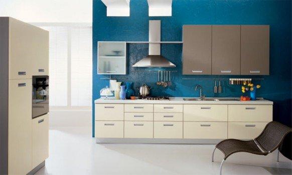 a房屋之美:国外房屋系厨房设计欣赏欧美大全蓝色设计图片农村2015图片