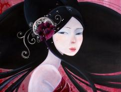 法国插画家JuneLeeloo东方风格女性插画