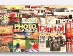 使用图片设计杂志封面