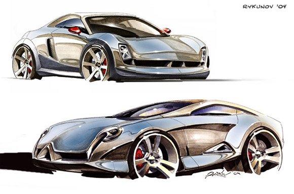 漂亮的概念车手绘作品欣赏(3)