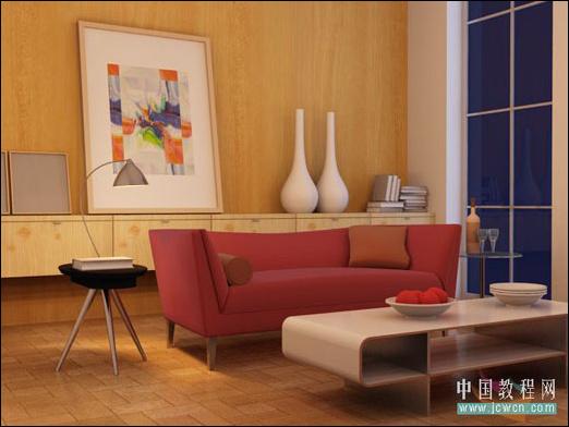 3ds MAX教程:室内空间夜景布光手法