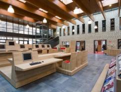 AEQUOY设计的高科技的学校图书室