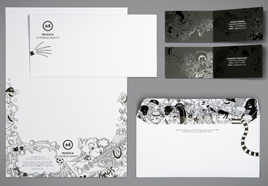83款国外漂亮的信封、信笺设计