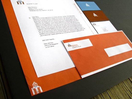 83款国外漂亮的信封,信笺设计(3)