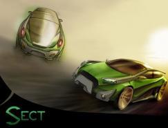 45款手绘概念汽车设计