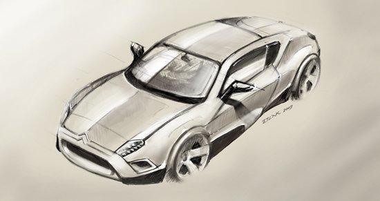45款手绘概念汽车设计(4)