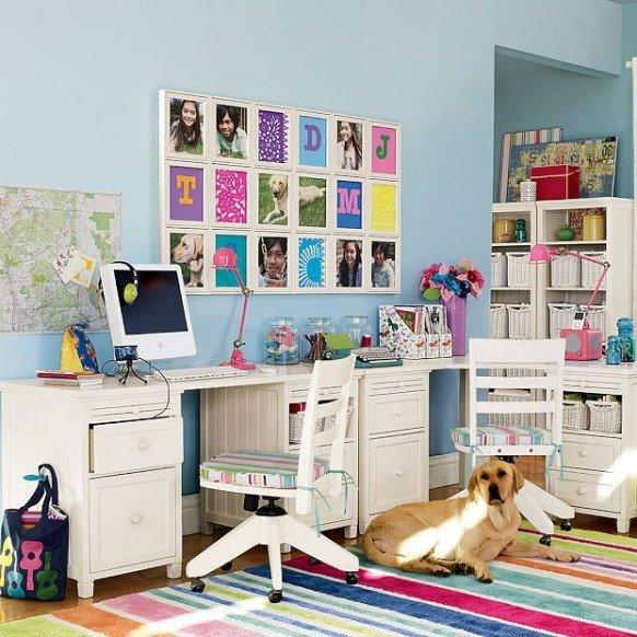 pbteen漂亮的儿童书桌设计
