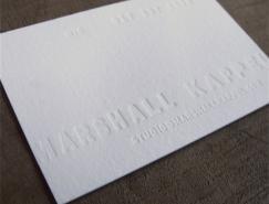 <b>20张白色的运用凸版工艺名片设计</b>